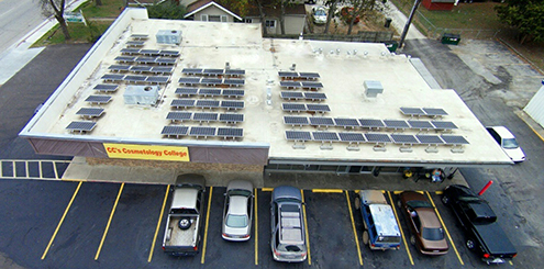 Image of Solar Panels on roof from above