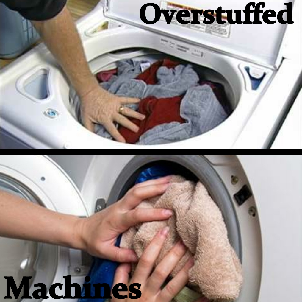 Avoid Over-Stuffing the Washing Machine